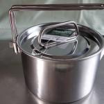 車中泊でお湯を沸かす道具 キャプテンスタッグ キャンピングケットルクッカー14cm1.3L
