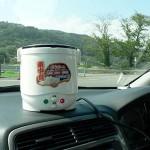 車中泊で、アツアツの炊きたてご飯が食べられる、炊飯器